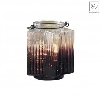 Новогодний декор Бордовый фонарь, 16 см