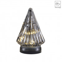 Новогодний декор Серый Led-фонарь, 17,5 см