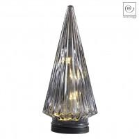 Новогодний декор Серый Led-фонарь, 28 см