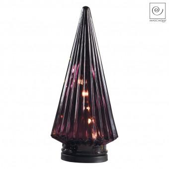 Новогодний декор Бордовый Led-фонарь, 28 см