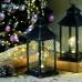Новогодний декор Фонарь с лампочкой, ромб