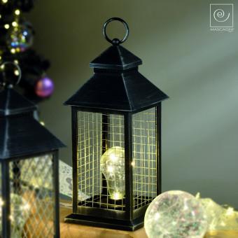 Новогодний декор Фонарь с лампочкой, клетка