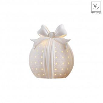 Новогодний декор Led-шар с бантиком, 13 см