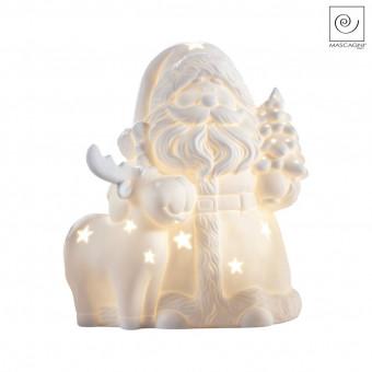 Новогодний декор Led-фигурка Санта Клаус с оленем
