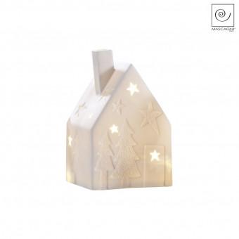 Новогодний декор Led-домик, белый