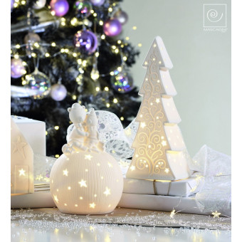 Новогодний декор Led-ель, белая