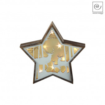 Новогодний декор Звезда с оленями, 23,5 см