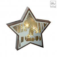 Новогодний декор Звезда с оленями, 33 см