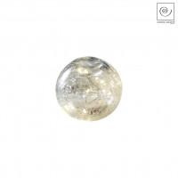 Новогодний декор Светодиодная сфера белая, d10 см