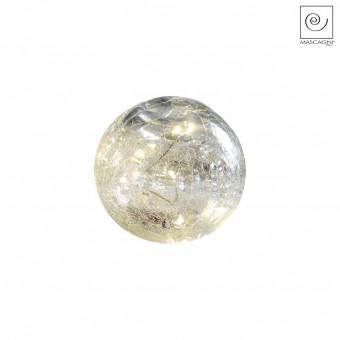 Новогодний декор Светодиодная сфера белая, d12 см