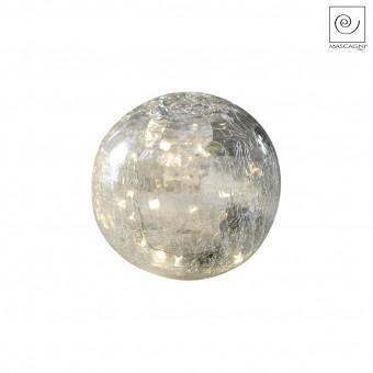 Новогодний декор Светодиодная сфера белая, d15 см