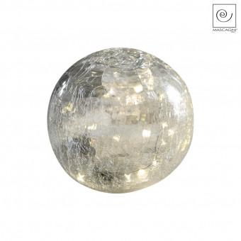 Новогодний декор Светодиодная сфера белая, d20 см