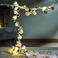 Новогодний декор Новогодняя гирлянда из шаров, 120 см
