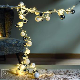 Новогодний декор Новогодняя гирлянда из шаров, 200 см