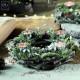 Новогодний декор Праздничный круглый подсвечник