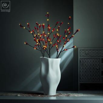 Новогодний декор Набор из 3 Led-ветвей, красные