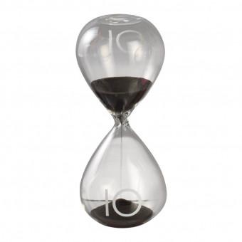 Песочные часы на 10 минут, черный