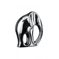 Статуэтка Слон 30 см, посеребренная керамика