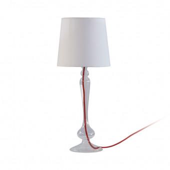 Настольная лампа с красным проводом, h57 см