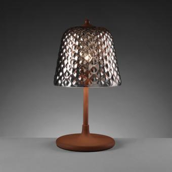 Настольная лампа с зеркальным плафоном, золотая роза