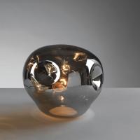 Настольная лампа зеркальная, хром