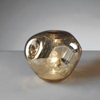 Настольная лампа зеркальная, золото