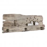 Вешалка для одежды деревянная на 3 крючка