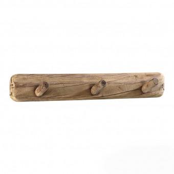 Вешалка на 3 крючка из переработанного дерева