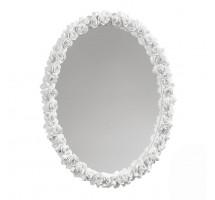 Зеркало в раме из цветов, 38х47см
