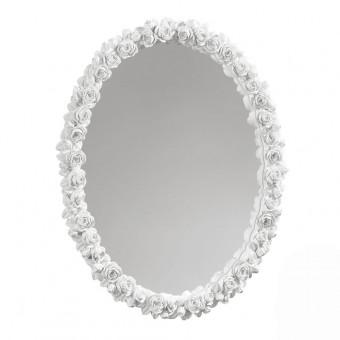Зеркало настенное в раме из цветов, 38х47см